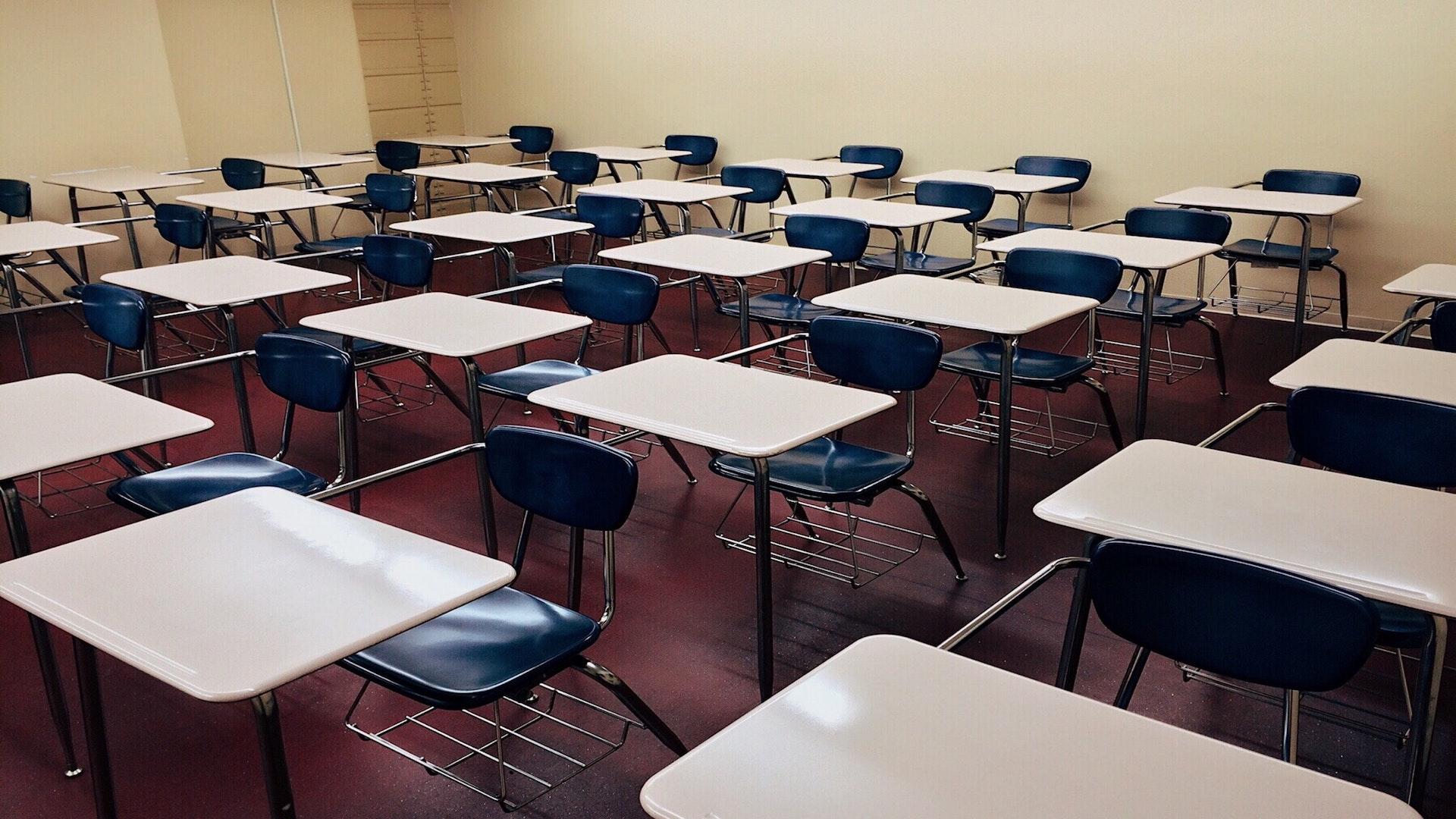 外国語学部の教室