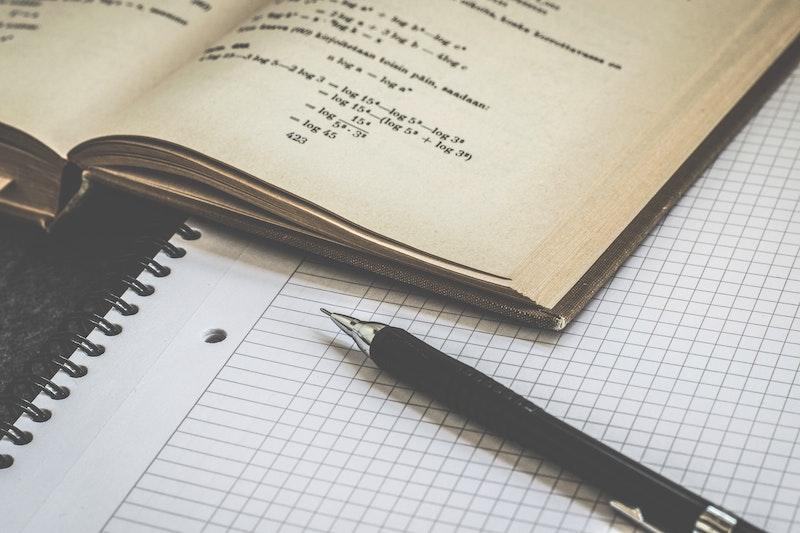 数学のノートと教科書